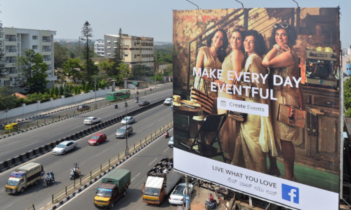 "Facebook, which counts India as its biggest market by number of users, promoted its ""Live What You Love"" campaign last year in Bangalore"